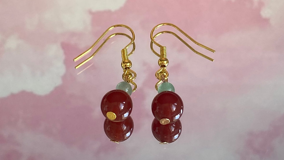 OUT OF STOCK// Cherry crystal earrings