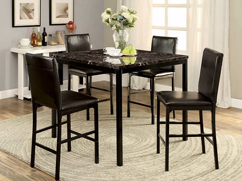 Marble Counter Height 5pc. Dinette Set