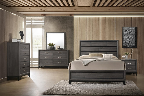Heather Grey 5 pc Bed Group