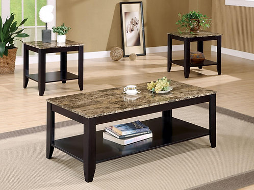 3pc. Marble Coffee & End Tables
