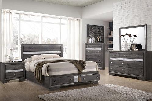 Gray Foot Storage Queen 5pc. Bedroom Group