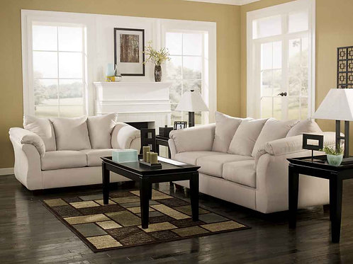 Oyster Microsuede 2pc. Living Room Set