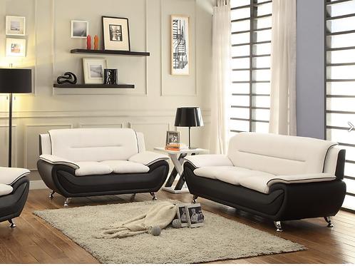White & Black 2pc. Living Room Set