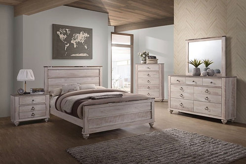 Whitewash Rustic 5pc. Bedroom Group