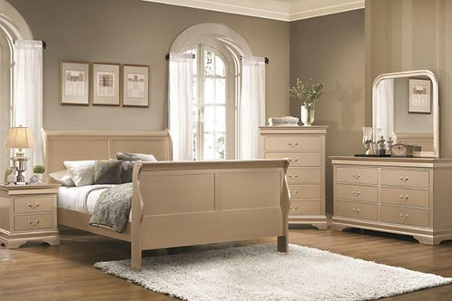 Champagne Sleigh 5pc. Bedroom Group