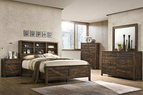 5pc Bookcase Bed Group