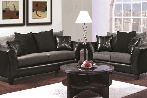 2 Tone 2 pc Sofa & Love Set