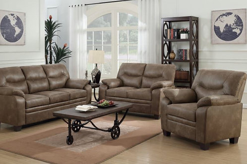 Plush Leather 2pc. Living Room Set