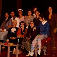 Na Faculdade de Artes, com Dulcina de Moraes