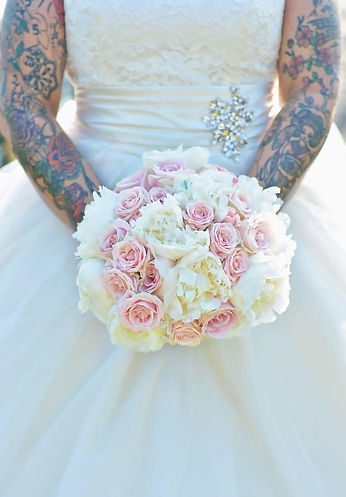 Cream & Pink Wedding Bouquet