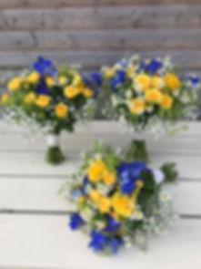 Striking Yellow & Purple Bouquets