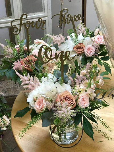 Wedding Flower Table Numbers