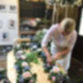 Anna Working on Flower arrangements