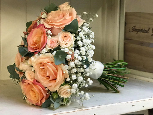 Peach & Coral Wedding Bouquet