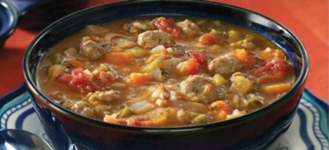 Mexican style Meatball Soup