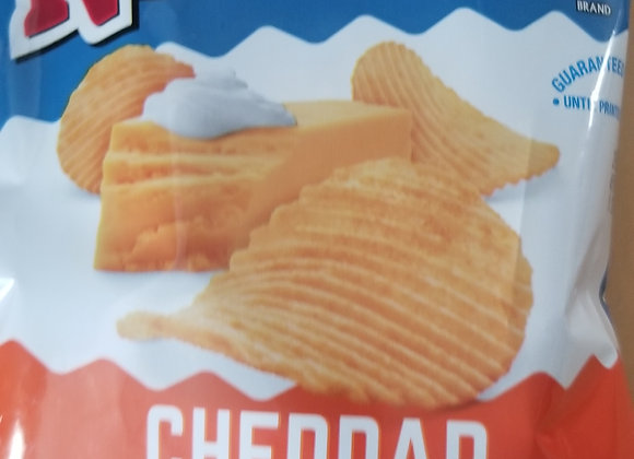 Cheddar & Sour Cream Ripple Chips