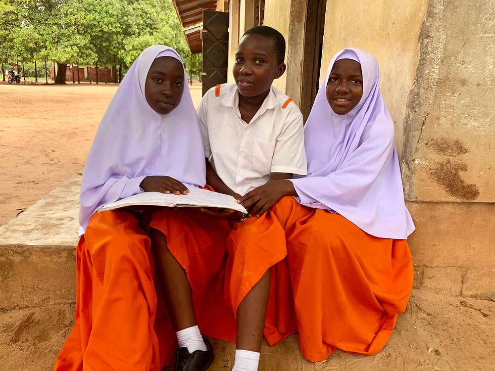 Girls studying at Kilangalanga Secondary School