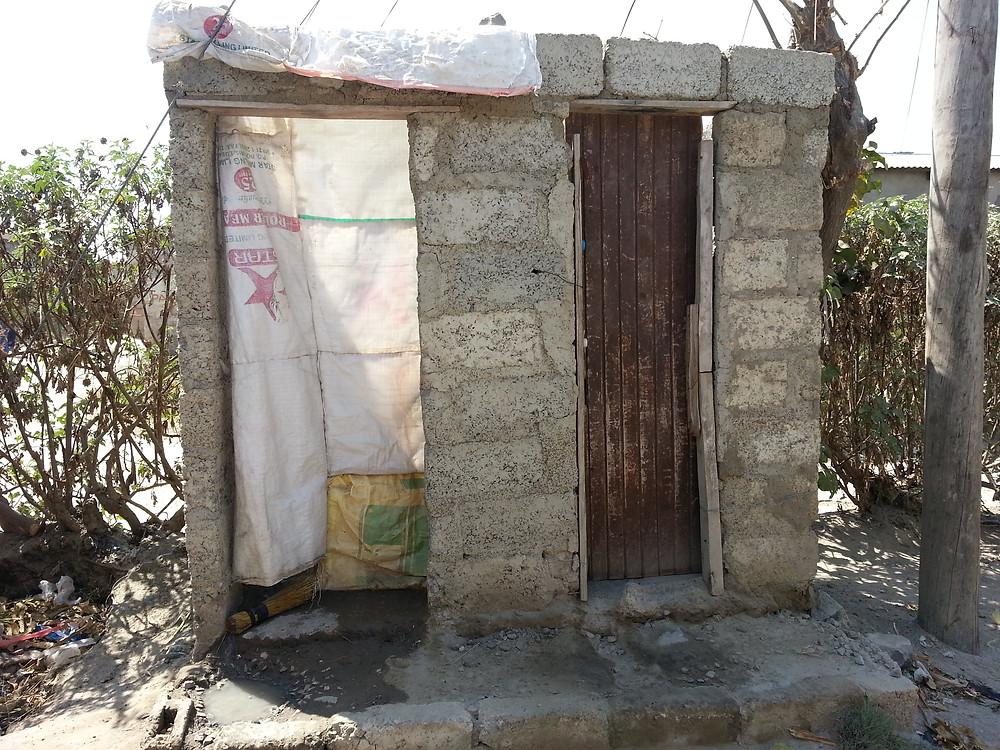 Local pit latrine