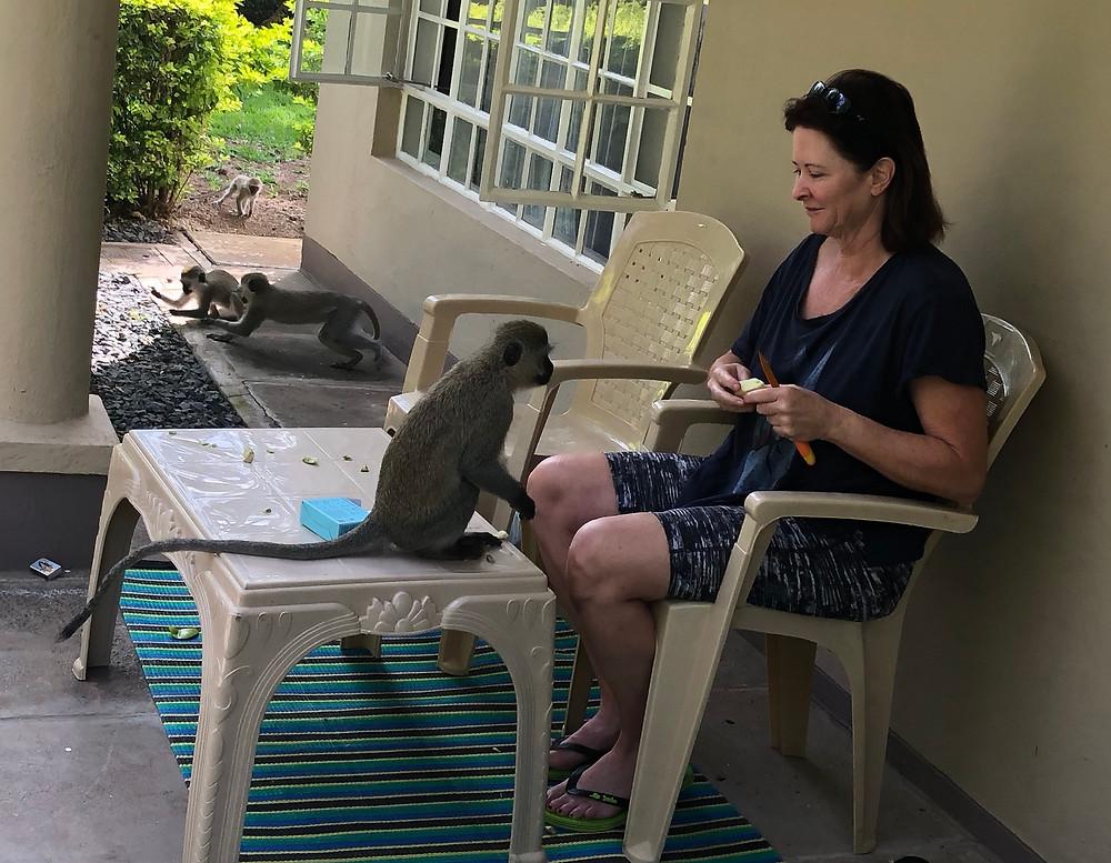Laurel with her monkeys