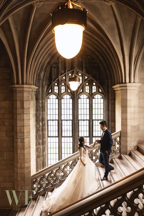 University of Toronto prewedding photo knox college 婚纱照