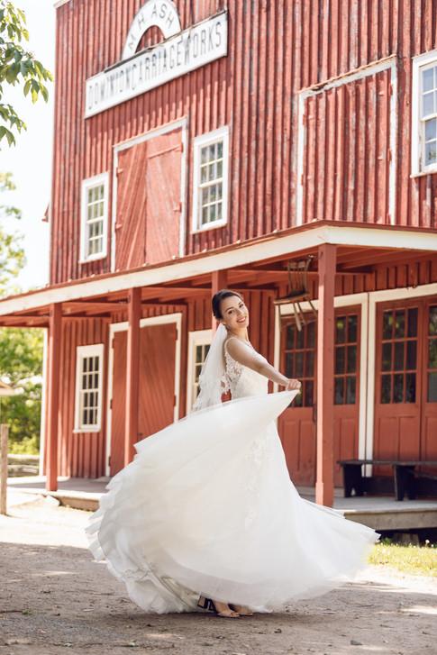 Black creek pioneer village wedding photo