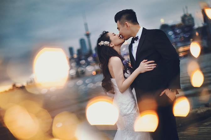 Toronto cn tower pre wedding photo 多伦多婚纱照