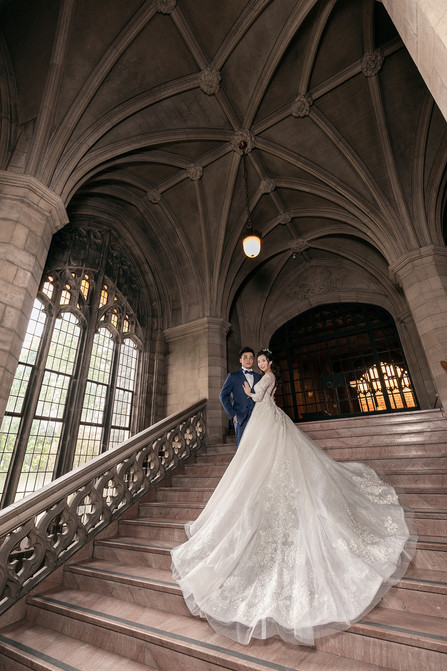 University of Toronto prewedding photo knox college 婚纱照