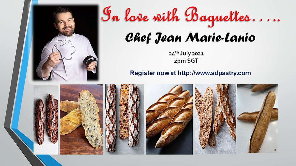 """Chef Jean Marie-Lanio """"In Love with Baguettes"""" - Recorded Session"""