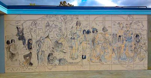 Mural Preparation - Sacred Heart College