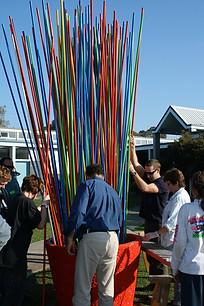 Pick Up Sticks Install - Sacred Heart Co