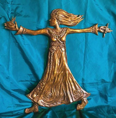 St Brigid Relief (50cm) - Christine Sage