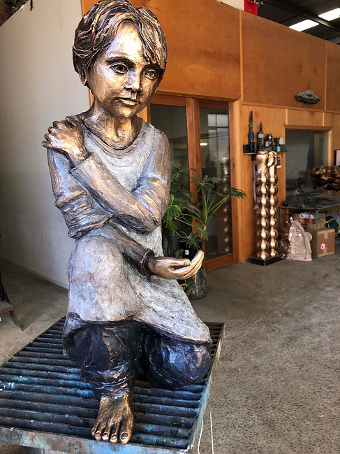 Young Girl at foundry - Caroline Chisholm College, Braybrook