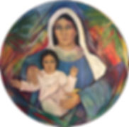 Madonna and Child Painting - Christine S