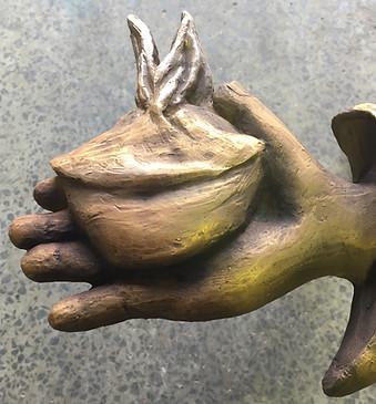 St Brigid Relief - Closeup of Hand