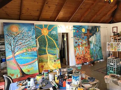 Aquinas Painting In Progress