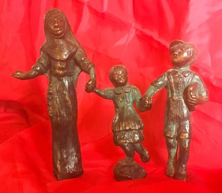 Mary MacKillop & Children Figurine - Chr