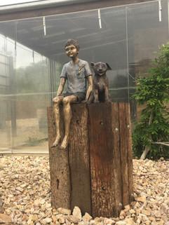 Boy with Dog 1
