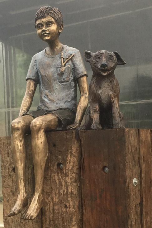 Boy with Dog - Hullabaloo Studio