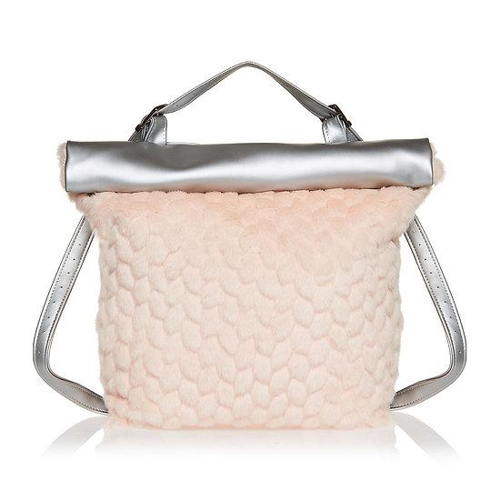 SquareR pink tao τσάντα με ασημένια λεπτομέρεια