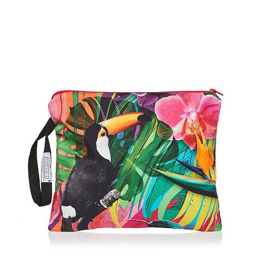 Χειροποίητη Τσάντα SquareW-Colorful Jungle Print