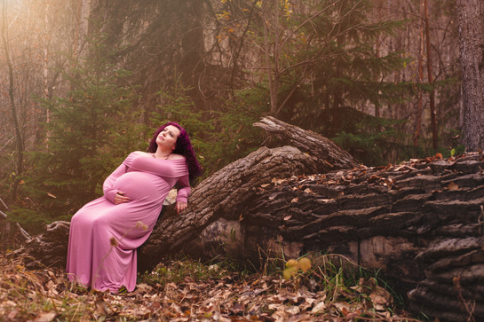 Dusty Pink maternity gown