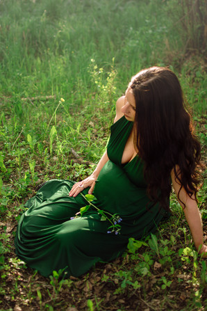 Deep Green Gown
