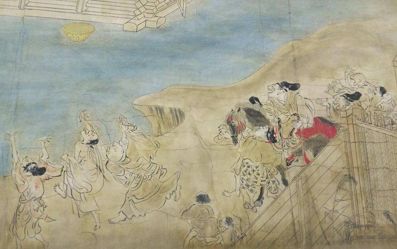 在学時作品:信貴山縁起絵巻模写(部分)