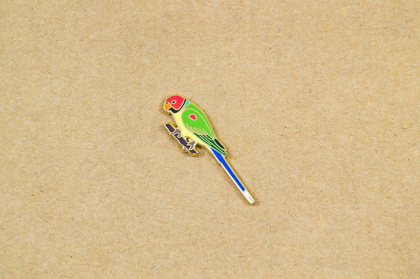 Plum Headed Parakeet Lapel Pin