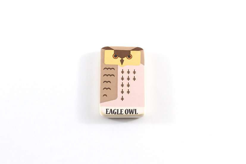 Eagle Owl Ceramic Magnet