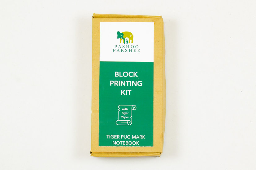 Tiger Pugmarks Notebook Block Printing Kit