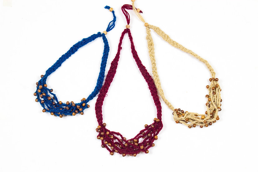 Crochet Woolen Necklace - SHEN
