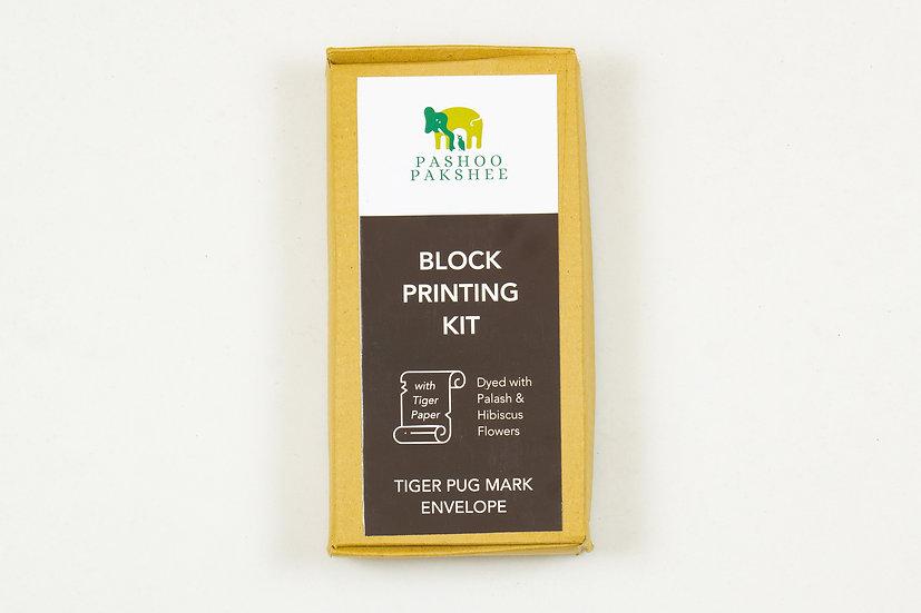 Tiger Pugmarks Envelope Block Printing Kit