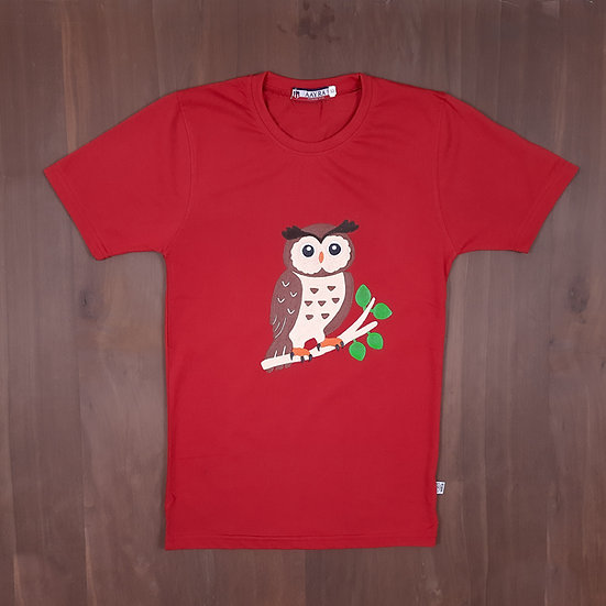 Painted Eagle Owl Kids T-shirt