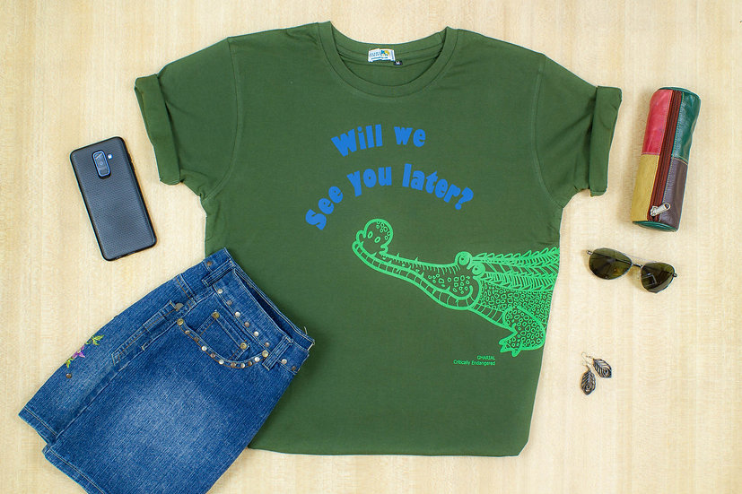Gharial, Will we see you later? T-shirt